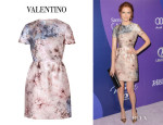 Darby Stanchfield's Valentino Flower Printed Dress