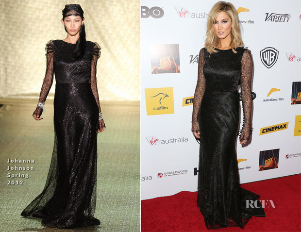 Delta Goodrem In Johanna Johnson - Australians In Film Benefit Dinner