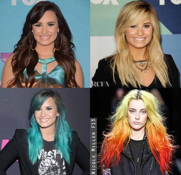 Demi Lovatos Ever Changing Locks Red Carpet Fashion Awards