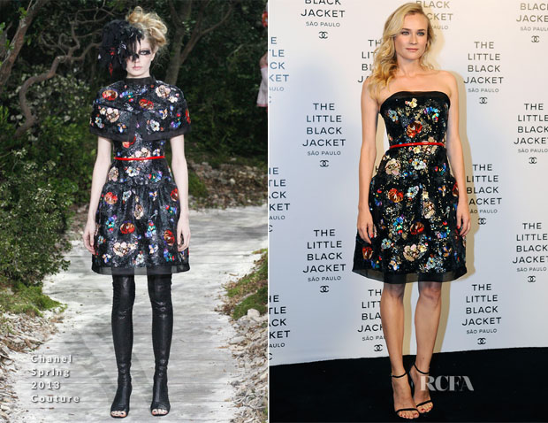 Diane Kruger In Chanel Couture - Chanel Little Black Jacket Brazil Event