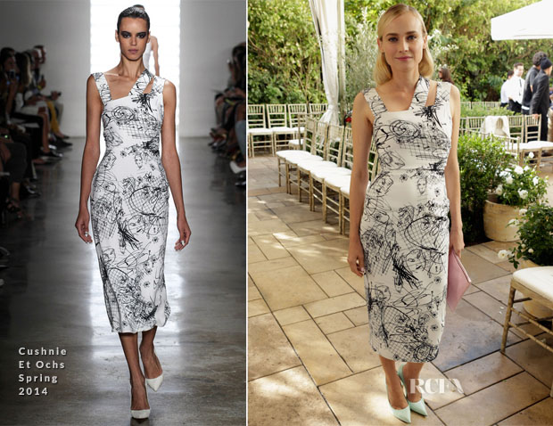 Diane Kruger In Cushnie Et Ochs - CFDA Vogue Fashion Fund Event
