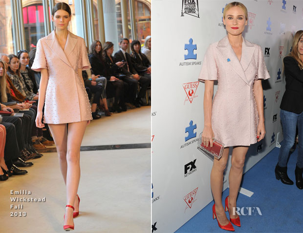 Diane Kruger In Emilia Wickstead - Autism Speaks' Third Annual Blue Jean Ball