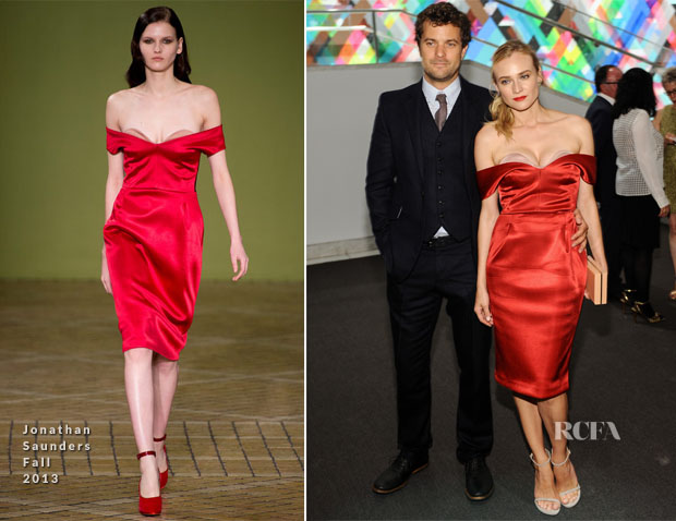 Diane Kruger In Jonathan Saunders - Hammer Museum 11th Annual Gala