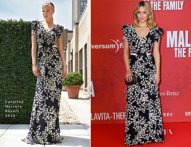 Dianna Agron In Carolina Herrera - 'Malavita - The Family' Berlin Premiere