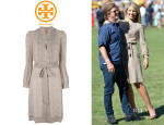 Dianna Agron's Tory Burch Belted Printed Dress