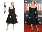 Dianna Agron's Valentino Wool-Silk Dress
