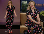 Drew Barrymore In Kate Spade New York - The Tonight Show with Jay Leno