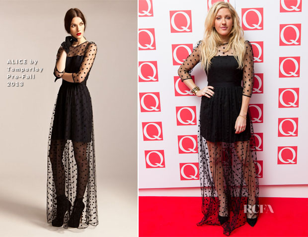 Ellie Goulding In ALICE by Temperley - Q Awards 2013