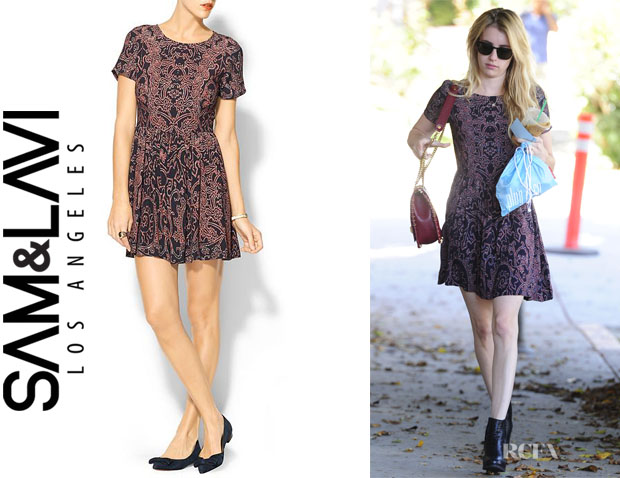 Emma Roberts' Sam & Lavi 'Freya' Dress