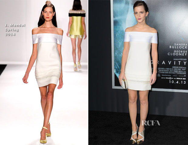Emma Watson In J Mendel - 'Gravity' New York Premiere