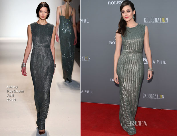 Emmy Rossum In Jenny Packham - LA Philharmonic's Walt Disney Concert Hall 10 Year Anniversary Celebration