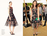 Emmy Rossum In Oscar de la Renta - CFDA/Vogue Fashion Fund Event