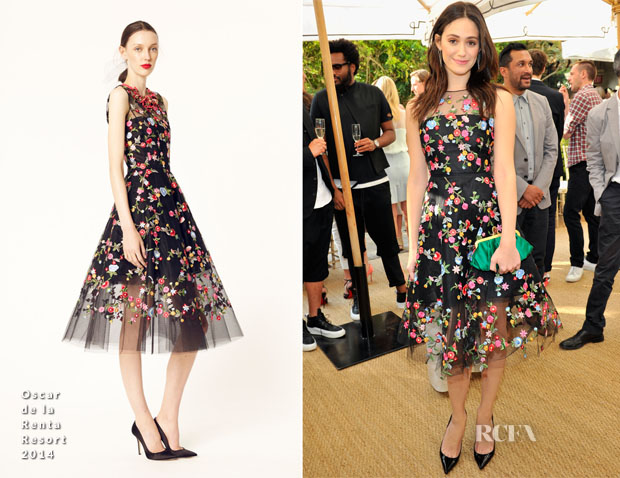 Emmy Rossum In Oscar de la Renta - CFDA Vogue Fashion Fund Event