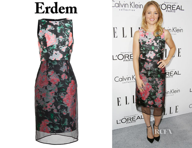 Erika Christensen's Erdem 'Delilah' Woven Silk-Blend Dress