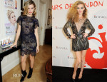 Georgia May Jagger In Christopher Kane & Julien MacDonald - Rimmel London: '180 Years Of Cool' Photocall & Party