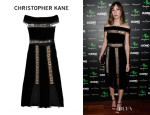 Gia Coppola's Christopher Kane Loop Tape Velvet Dress