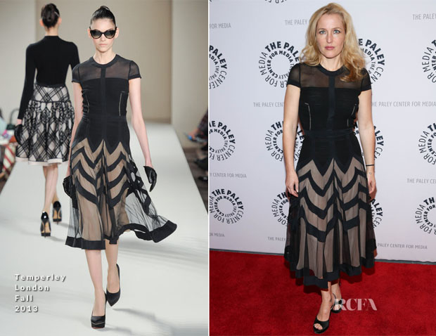 Gillian Anderson In Temperley London - Paley Center For Media Presents 'The Truth Is Here David Duchovny And Gillian Anderson On The X-Files'