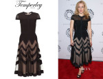 Gillian Anderson's Temperley London 'Romy' Silk Dress