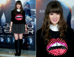 Hailee Steinfeld In Markus Lupfer & tbagslosangeles - 'Enders Game' Madrid Photocall