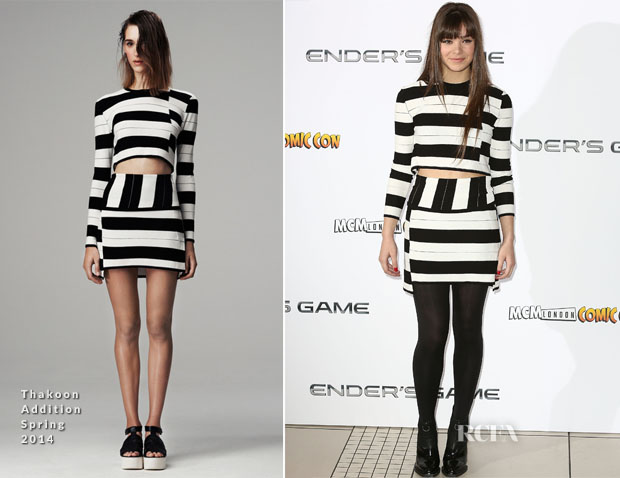 Hailee Steinfeld In Thakoon Addition - 'Ender's Game' London Photocall