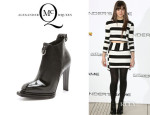 Hailee Steinfeld's McQ Alexander McQueen Patent And Suede Booties
