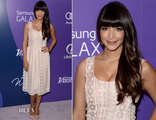 Hannah Simone In Oscar de la Renta - Variety's 5th Annual Power of Women Event