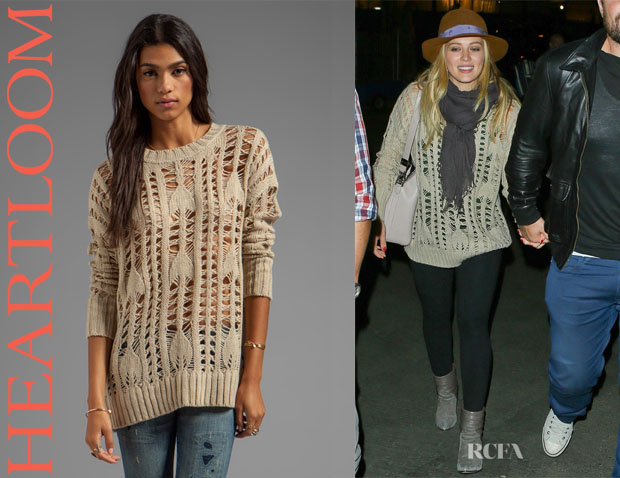 Hilary Duff's Heartloom 'Samara' Sweater