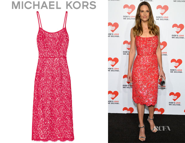Hilary Swank's Michael Kors Lace Dress