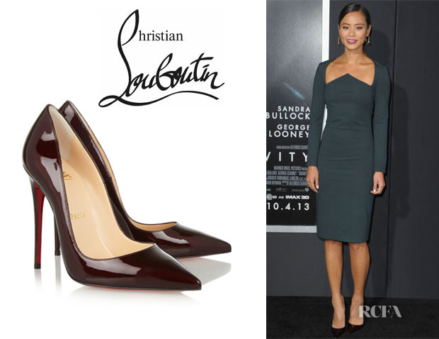 Jamie Chung's Christian Louboutin 'So Kate' Patent-Leather Pumps