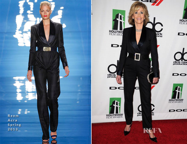 Jane Fonda In Reem Acra - 2013 Hollywood Film Awards
