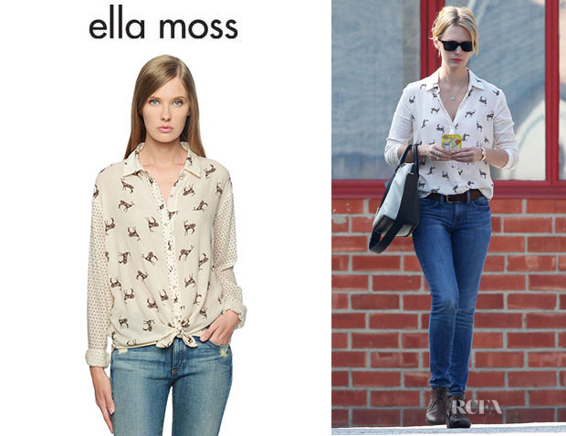 January Jones' Ella Moss 'Jane Doe' Printed Shirt
