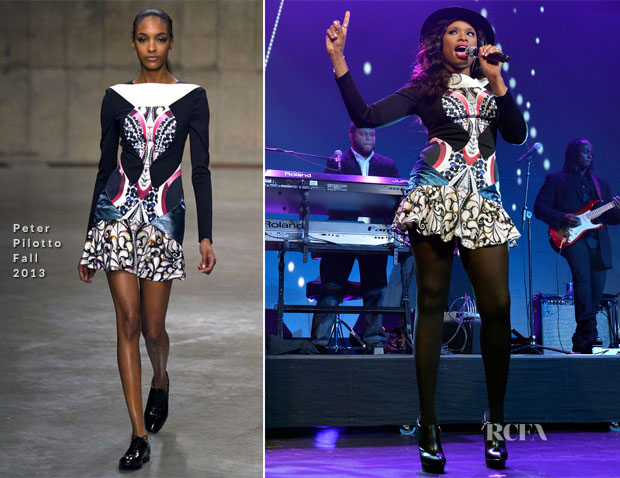 Jennifer Hudson In Peter Pilotto - 30th Annual Walter Kaitz Foundation Fundraising Dinner