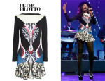 Jennifer Hudson's Peter Pilotto 'Caio' Jersey Dress