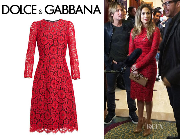 Jennifer Lopez' Dolce & Gabbana Floral Lace Dress