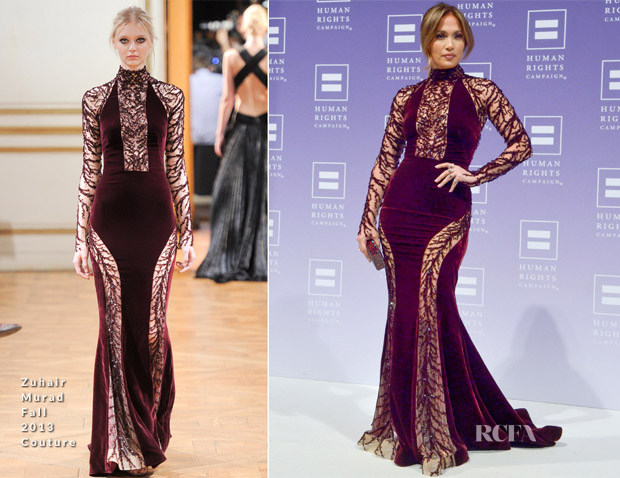 Jennifer Lopez In Zuhair Murad - 2013 Human Rights Campaign National Dinner