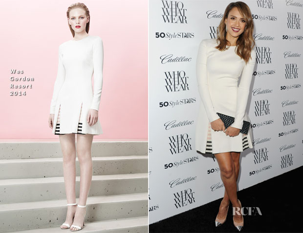 Jessica Alba In Wes Gordon - Who What Wear and Cadillac's 50 Most Fashionable Women Of 2013