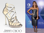 Jessica Alba's Jimmy Choo 'Myth' Strappy Sandals
