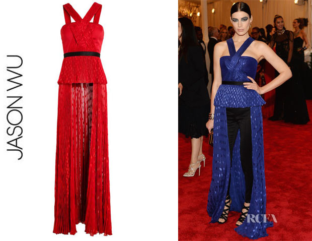 Jessica Pare'sJason Wu Pleated Silk Top
