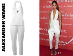 Joan Smalls' Alexander Wang Halter Neck Jumpsuit