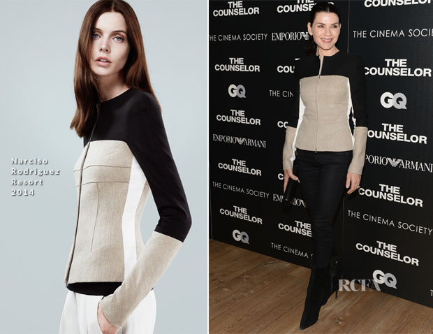 Julianna Margulies In Narciso Rodriguez - 'The Counselor' New York Screening