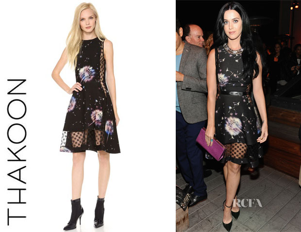 Katy Perry's Thakoon Sleeveless Lace Inset Dress