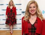 Kelly Clarkson In McQ Alexander McQueen - SiriusXM Studios