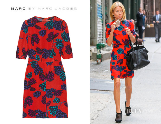 Kelly Ripa's Marc by Marc Jacobs 'Mareika' Tulip Printed Dress