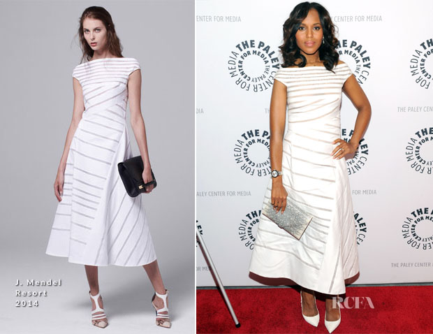 Kerry Washington In J Mendel - The Paley Center For Media Presents 'She's Making Media Kerry Washington'