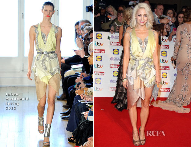 Kimberly Wyatt In Julien Macdonald - 2013 Pride of Britain Awards
