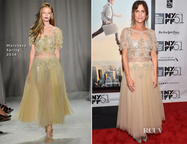 Kristen Wiig In Marchesa - Centerpiece Gala Presentation of 'The Secret Life of Walter Mitty'