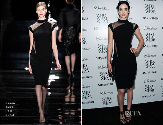 Krysten Ritter in Reem Acra - Who What Wear And Cadillac's 50 Most Fashionable Women Of 2013