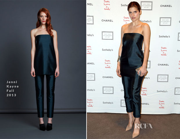 Lake Bell In Jenni Kayne - 2013 'Take Home A Nude' Benefit Art Auction