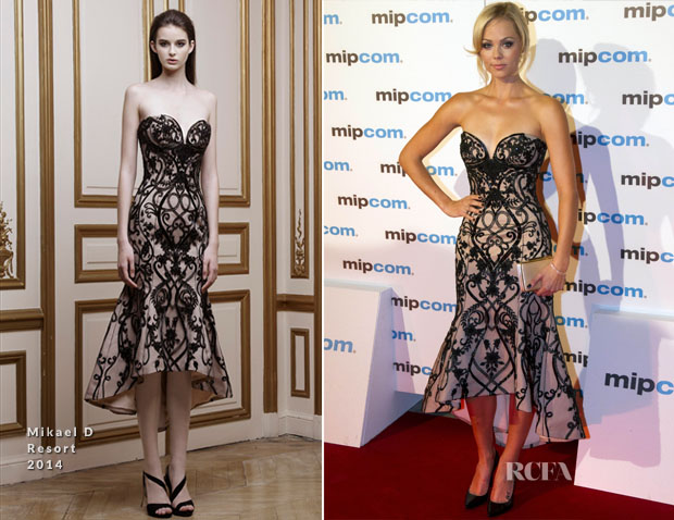 Laura Vandervoort In Mikael D - MIPCOM Party