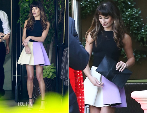 Lea Michele In Fausto Puglisi - Four Seasons Hotel
